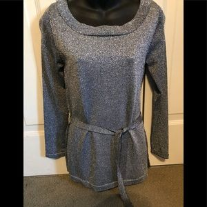 Ladies silver sweater
